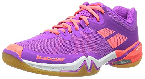 Babolat Chaussures de Badminton Femme Shadow Tour Femme 31s1686 Violette/Rose-3