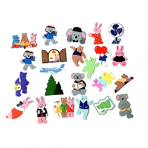 TTBH Viento Oso Dibujos Animados Impermeable Coche Pegatina Decorativa Coche eléctrico teléfono móvil película Plana Brillante Pegatina DIY 36 en