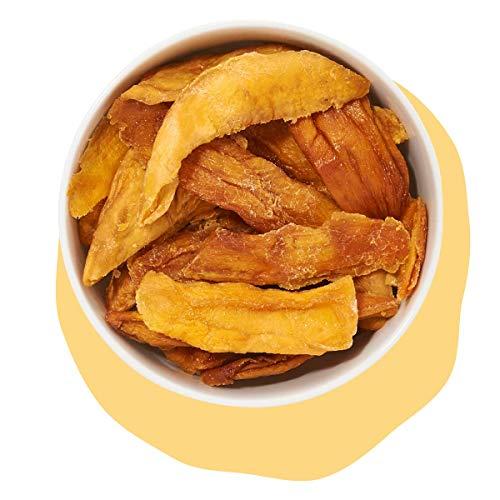 Mangostreifen getrocknete naturbelassene Mango, ohne Zucker und ungeschwefelt von kultsnack (1000 g)