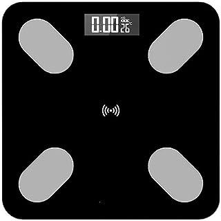 Báscula de baño digital Escala Humana Cuerpo Electrónico, carga UDB, de alta precisión, pequeño error, de respuesta rápida, conveniente for la grasa corporal báscula peso corporal (Color : A)