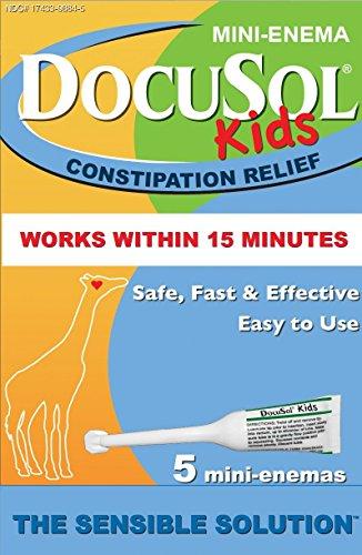 DocuSol Kids Mini-Enema Constipation Relief, 5 Count (Pack of 2)