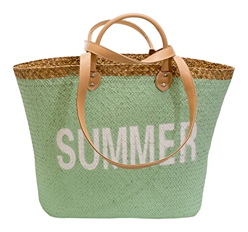 ArteRegal Paja Summer 49315 Bolsa de Tela Y de Playa, 50 cm, Multicolor