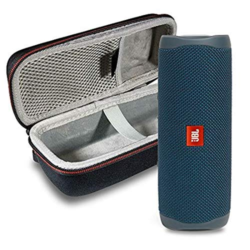 JBL Flip 5 Waterproof Portable Wireless Bluetooth Speaker Bundle with Hardshell Protective Case - Blue