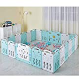 Albott 22 Panels Baby Playpen Kids Safety Play Center Yard - Kids Activity Center Indoor or Outdoor, Portable Play Yard with Gate for Babies Infant Toddlers(20 Panels+1 Gate+ 1 Game Board)