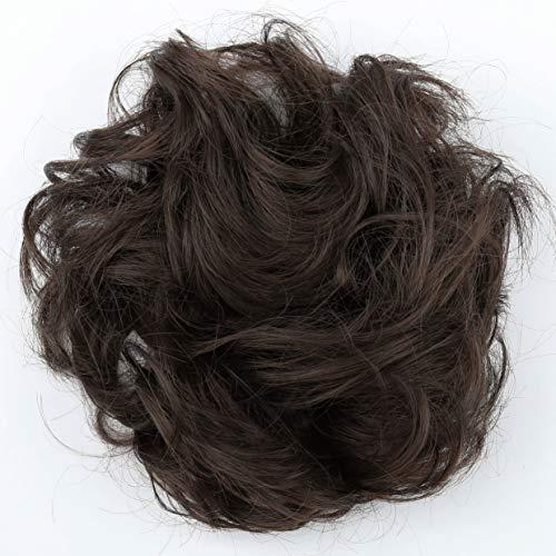 PRETTYSHOP Haarteil Haargummi Hochsteckfrisuren Brautfrisuren Voluminös Gelockt Unordentlich Dutt Braun Mix G15A