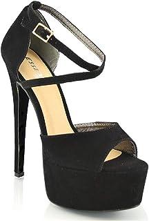 Amazon.it: Sandali Donna Tacco 15: Scarpe e borse