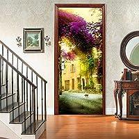 ストリートビュー3Dドアステッカー、アートホームデコレーション用PVC壁画デカール30.3x78.7(77x200cm)