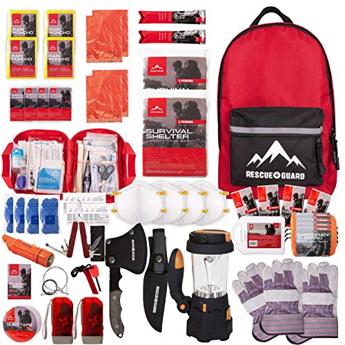 Rescue Guard First Aid Kit Hurricane Disaster or Earthquake Emergency Survival Bug Out Bag Supplies...