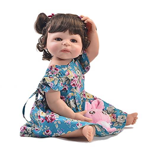 TTWLJJ Muñecas recién Nacidas Simulación Renacer Muñeca55Cm 22 Pulgadas Vinilo bebé para niños Regalo de cumpleaños