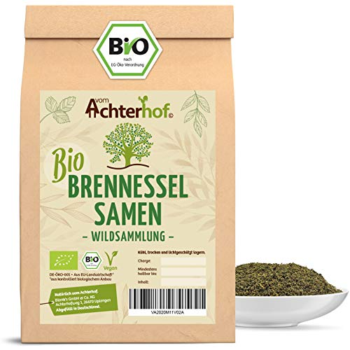 BIO Brennesselsamen kbA 500 g | Wildsammlung | Naturbelassen | Vegan | Rohkostqualität | BIO Brennessel Samen natürlich vom-Achterhof