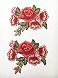 Patch Sticker Blumen 2 Stück/EIN Paar Aufnäher Kleidung Patch 18 cm lang P464