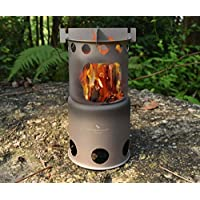 Boundless Voyage Outdoor Titanium Foldable Mini Size Wood Burning Stove Camping Picnic Hiking Ultralight Cooking Burner…