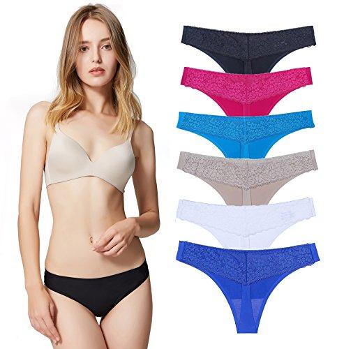 Encaje Sexy Braguita Tangas Pantalones Mujer sin Costuras