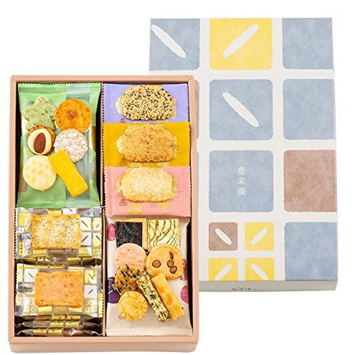 あられとよす 煎餅 せんべい おかき 豊楽撰 190g (35袋) 入 | 米菓子 小袋 贈り物 お歳暮 ギフト 母の日