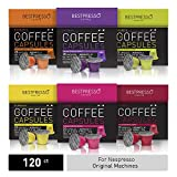 Bestpresso Coffee for Nespresso Original Machine 120 pods Certified Genuine Espresso Variety Pack Pods Compatible with Nespresso Original