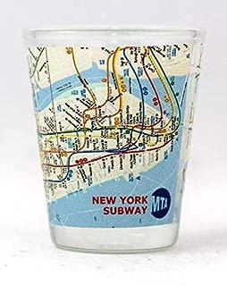 New York City Subway Map Shot Glass ctm