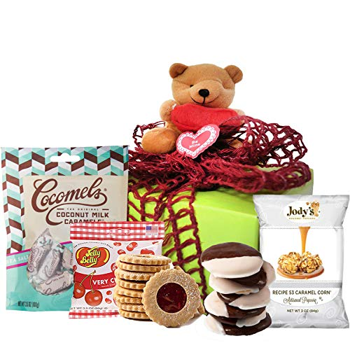 INDEPENDENCE DAY GIFT BASKET GLUTEN FREE | Beary Sweet Birthday Gifts for Women | Get Well Soon Gift Basket for Delivery Prime with Gourmet Cookies Sweets Healthy Snacks & Chocolates | Sympathy Gifts, Corporate Gifts for DAD, Graduation Gifts, Clients, Military (Large Box)