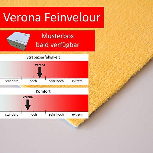 Steffensmeier Velours Teppichboden Verona Meterware | Auslegware für Kinderzimmer Wohnzimmer Schlafzimmer | Gelb, Größe: 300x400 cm