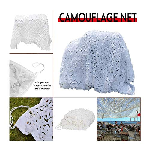 3 * 4M/10 * 13ft Snow-white Military Awning Camouflage Net Car Covers Hunting Camouflage Net Sun Shelter Tent Military Camouflage Net (Color : -, Size : 3x3m/10x10ft)