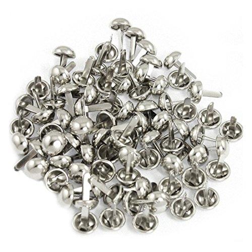 Sourcingmap 100 Stück Metall silbrig Teilt Nieten für Beutel-Kleidung Material: Metall