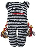 Patchwork Pet 01238 Lenny Greybar 13-Inch Plush Dog Toy Black & White Medium