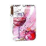 qfkj Portátil de Viaje Organizador de lápiz Labial,Copa de Vino Tinto Granate de Pepita
