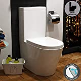 Cesar Bathroom Short Projection Rimless Close Coupled Toilet with Cistern & Soft Close