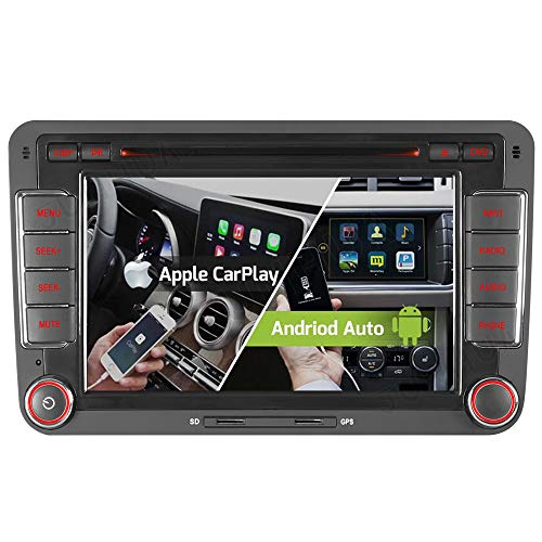 "7"" 2-Tuner Android 10.0 DVD GPS 2+32GB Android Auto+Carplay BT 5.0 DSP Autoradio Navigation für VW Passat B6 Golf V VI 5 6 Touran Tiguan Multivan T5 Transporter Polo Caddy Skoda Seat DAB+ WiFi 4G OBD2"