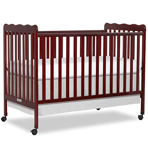 Dream On Me Carson Classic 3-in-1 Convertible Crib in Cherry, Greenguard Gold Certified