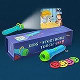 PROACC Proyector para niños Historia Story Proyector Proyección Antorcha para Linterna Baby Flashlight Juguete, 4...