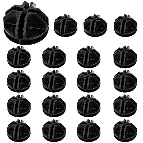 AFASOES 20 Pcs Conector de Cubo de Rejilla de Alambre Plástico Conectores de Plástico para Estantería de Armario Cubo de Almacenamiento Estantería de Almacenamiento Armario Organizador (Negro)