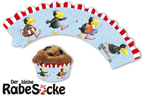 12 Cupcake Banderolen * DER KLEINE RABE SOCKE * für Muffins und Cupcakes // Party Kindergeburtstag Geburtstag Kinder Mottoparty