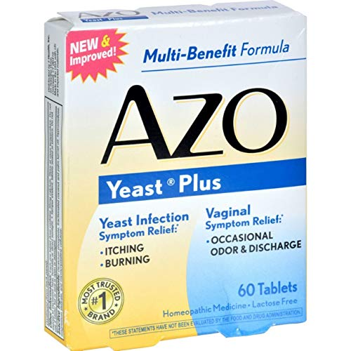 Azo Yeast Tablets, 60 ct - Packaging May Vary