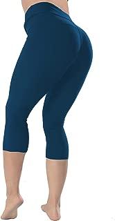 High Waisted Leggings -10+Colors -Soft Slim Pants for Women w Hidden Inner Pocket, Reg&Plus Size