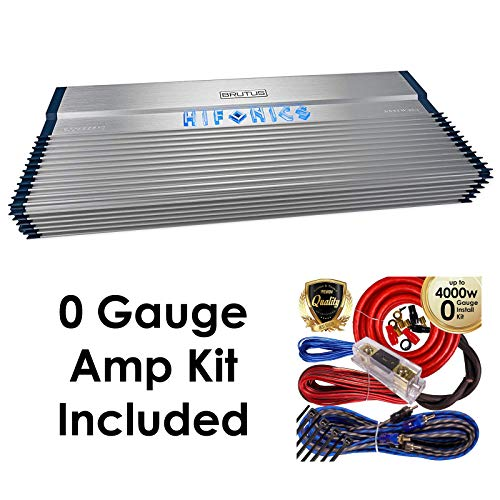 Hifonics BXX4000.1D Brutus 4000W RMS Class D Mono Car Subwoofer Amplifier w/Amp Kit