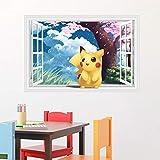 AQgyuh Puzzle 1000 Piezas Mapa Visual de la Ventana de Pokémon 3D Puzzle 1000 Piezas Animales Juego de Habilidad para Toda la Familia, Colorido Juego de ubicación.50x75cm(20x30inch)