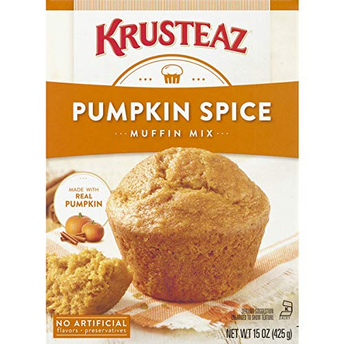 Krusteaz Pumpkin Spice Supreme Muffin Mix, 15-Ounce Boxes (Pack of 12)