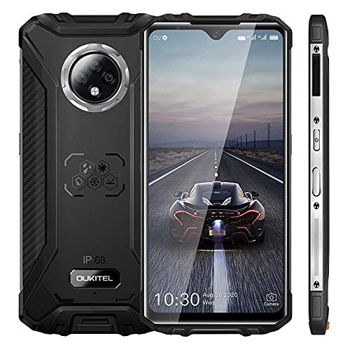 OUKITEL WP8 Pro SIMフリー スマホ 本体 IP68&IP69スマホ 防水 防塵 耐衝撃 6.49インチの大画面 デュアル4G SIM Android 10.0 5000mAhの大型バッテリー 4GB RAM+64GB ROM(256 GB拡張可能)16MP+2MP+2MPカメラ 超薄型スマートフォン本体 NFC、OTG、GPS 指紋のロック解除 1年間の保証(黒)