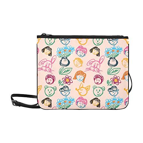 Modedesign-Tasche Kreative niedliche Cartoon-Zeichnung Charakter verstellbare Schultergurt Baby-Mode-Taschen für Frauen Mädchen Damen Mode Waschbeutel Cross Body Book Bag