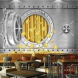 Hwhz Personalizado 3D Personalidad Caja Fuerte Us Dollar Mural Industrial Wind Restaurant Hotel Fondos De Pantalla En La ParedA-250X175Cm