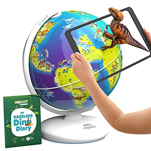 3Dで学べる 知育地球儀 Shifu Orboot 世界各国の特徴や文化を楽しみながら学習できる 立体表示で面白い AR(拡張現実) 知育玩具 STEM Toy Bilingual バイリンガル (ディノス(恐竜版))