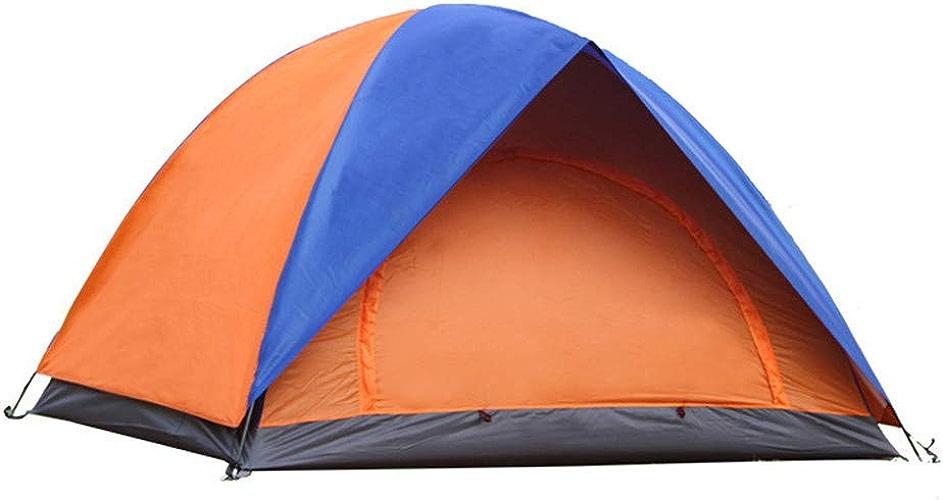 WRF Tente de Camping, portative Deux Portes Design plage Tente Facile à Installer, adapté pour Home Garden Camping Fishing plage Times (Orange bleu)