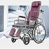 TWL LTD Silla de Ruedas Plegable de Aluminio con Brazos Completos Y Columpio Silla de Ruedas Ergonómica Ultra Transit