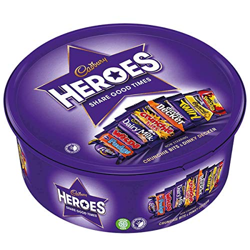 Cadbury Heroes Chocolates Tub 600g