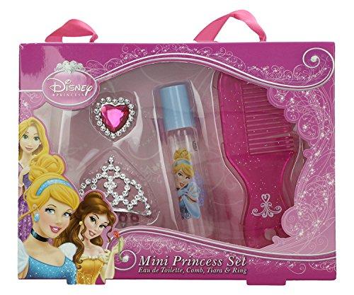 Disney Princess Mini Diadem Set - Eau de Toilette Roll-on Stift 8 ml, Glitzer Diadem, Ring, Kamm, 1er Pack (1 x 0.071 kg)