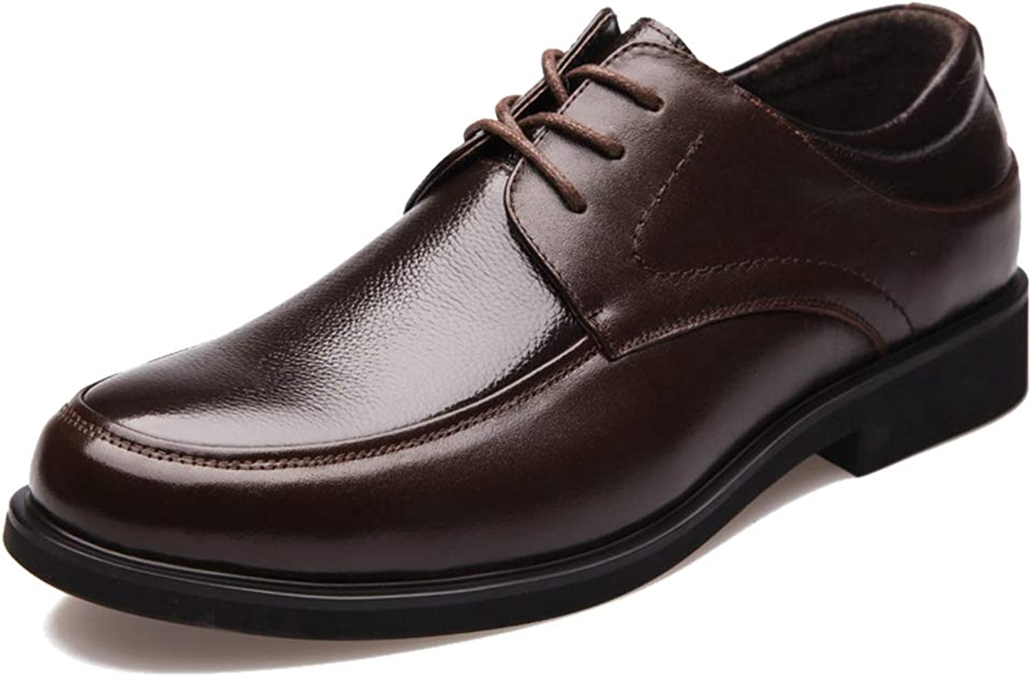 Phil Betty Mens Oxford shoes Lace Up Round Toe Breathable Business Casual Dress shoes