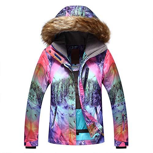 Ladies Ski Suit Vinter damer skidkläder krage utomhus varm bergsklättring skidkläder Praktisk Utomhus Bergsklättring (Color : Rose red, Size : Large)
