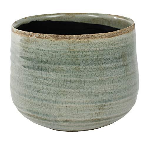 TS Indoor Cache-Pot Iris Cache-Pot céramique Menthe Vert | Ø14cm ?12cm