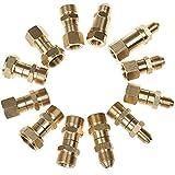 Accesorios para lavadoras a presión, accesorios de acoplamiento rápido de latón, juego de adaptadores, conexión rápida 22 macho a 14 hembra