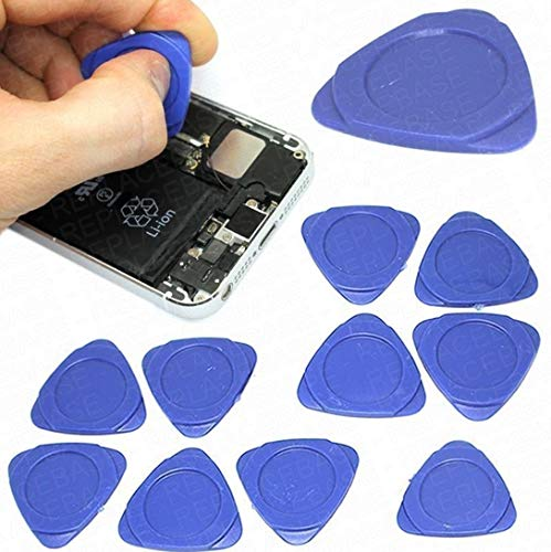 10 Pieces Universal Triangle Plastic Pry Opening Tool for iPhone Mobile Phone Laptop Table LCD Screen Case Disassembly Blue Guitar Picks by Deal Maniac